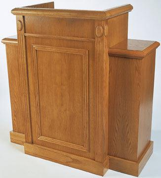 Church Wood Pulpit TWP-105-Front-Church Wood Pulpits, Podiums and Lecterns-Podiums Direct