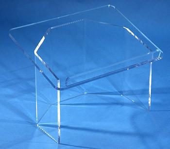 Tabletop Lectern Clear Acrylic-Tabletop Lecterns-Podiums Direct