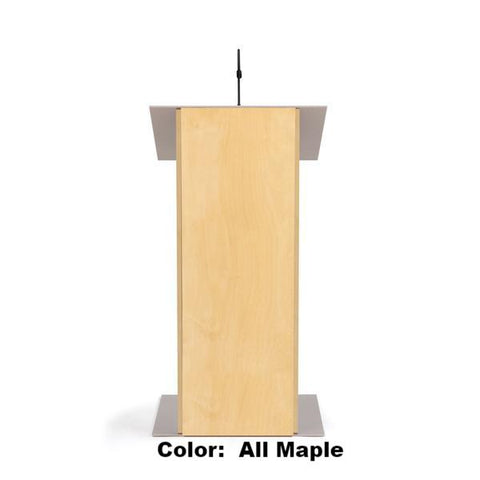Contemporary Lectern and Podium K-2-Front View-Contemporary Lecterns and Podiums-Podiums Direct