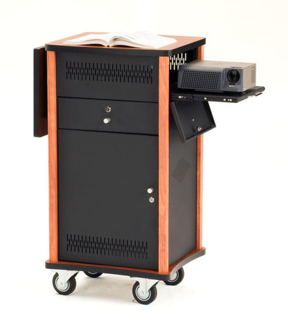 Presentation Cart WZD Oklahoma Sound The Wizard-Presentation AV Tablet Laptop Carts and Plasma LCD Stands-Podiums Direct