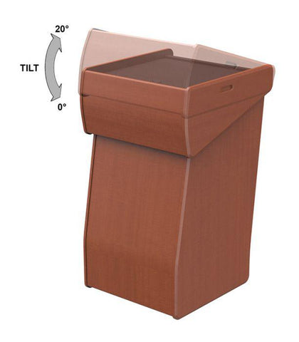 Modern Adjustable Top Lectern, LEX41-Contemporary Lecterns and Podiums-Podiums Direct