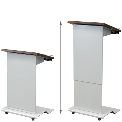 Metal Electric Lift, Height Adjustable Lectern, LEXYZ28-Contemporary Lecterns and Podiums-Podiums Direct