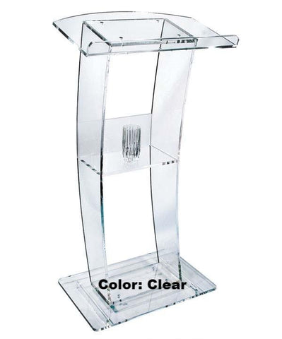 Acrylic Lectern C Design-Acrylic Pulpits, Podiums and Lecterns-Podiums Direct
