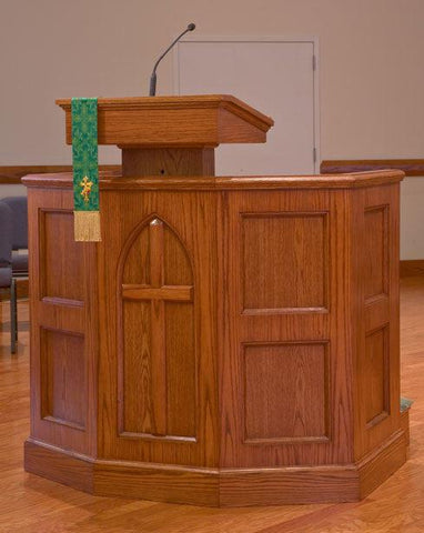 Church Wood Pulpit Custom No 1-Church Solid Wood Pulpits, Podiums and Lecterns-Podiums Direct