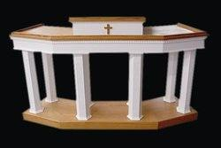 Church Wood Pulpit Custom No 4-Church Solid Wood Pulpits, Podiums and Lecterns-Podiums Direct