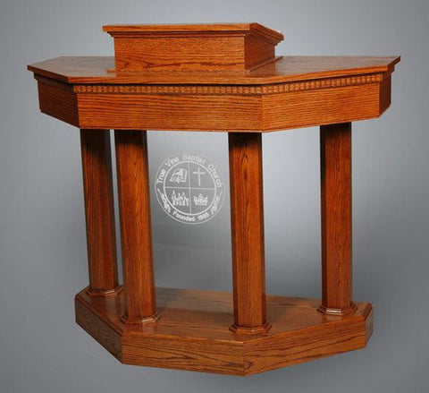 Wood with Acrylic Pulpit Custom No 6-Wood With Acrylic Pulpits, Podiums and Lecterns-Podiums Direct