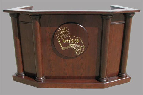 Church Wood Pulpit Custom No 7-Church Solid Wood Pulpits, Podiums and Lecterns-Podiums Direct