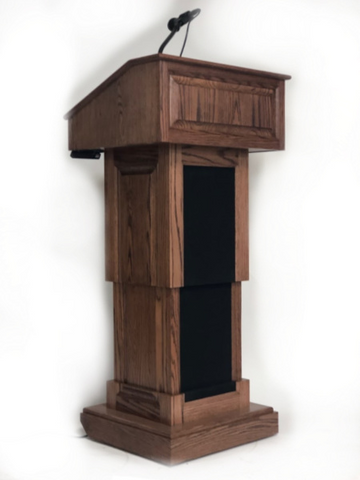 Handcrafted Solid Hardwood Lectern CLR235-EV-L-Counselor Evolution Lift With Sound Lectern-Podiums Direct