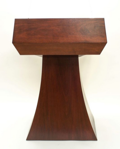 Handcrafted Solid Hardwood Pulpits, Podiums and Lecterns-Handcrafted Solid Hardwood Lectern StateMan Non-Sound-Podiums Direct
