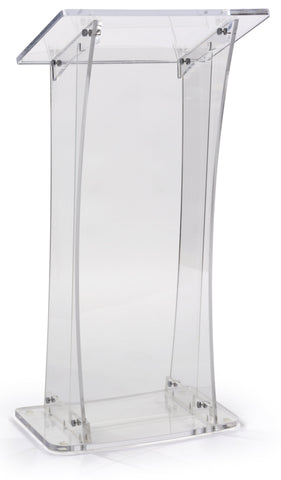 Acrylic Lectern With Portable Design-Acrylic Pulpits, Podiums and Lecterns-Podiums Direct
