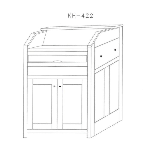 Multimedia Lectern KH422-Multimedia Podiums and Lecterns-Podiums Direct