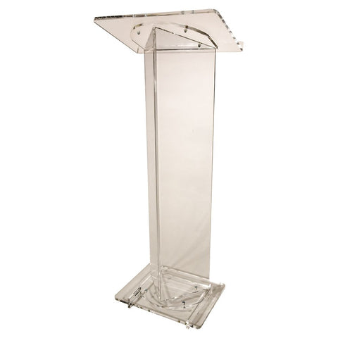 Acrylic Lectern Triangle Style-Front-Acrylic Pulpits, Podiums and Lecterns-Podiums Direct