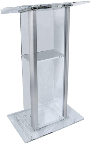 Contemporary Acrylic and Aluminum Podium KL2A-Contemporary Acrylic and Aluminum Podiums-Podiums Direct