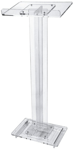 Acrylic Lectern Economy-Acrylic Pulpits, Podiums and Lecterns-Podiums Direct