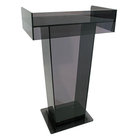 Acrylic Lectern Smoked Hamilton-Acrylic Pulpits, Podiums and Lecterns-Podiums Direct