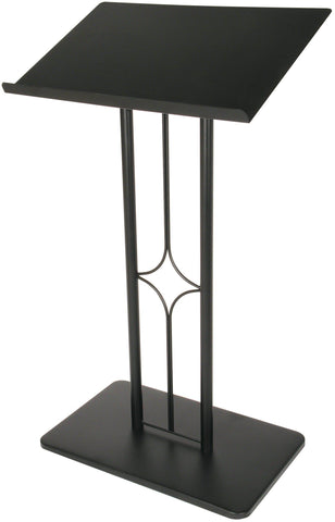 "Metal Truss Lectern ""Delaware Style"" Black.  FREE SHIPPING!"
