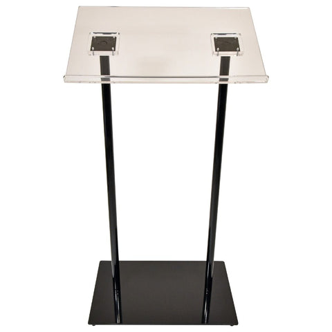 Contemporary Acrylic and Aluminum Podium Double Column - FREE SHIPPING!