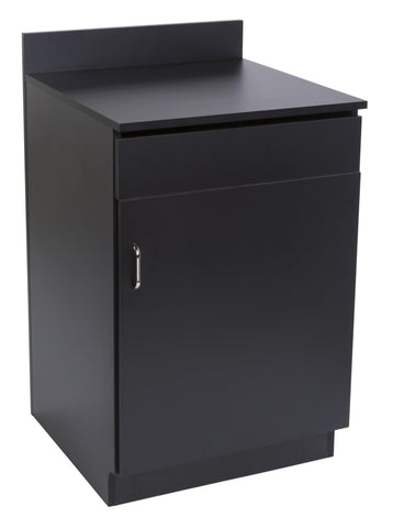 Closed Cabinet Restaurant Host Station in Black or Mahogany-Black-Valet Podiums, Security, and Host Stations-Podiums Direct