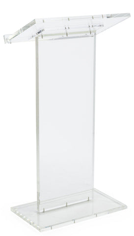 Acrylic Lectern Clear Podium Series-Acrylic Pulpits, Podiums and Lecterns-Podiums Direct
