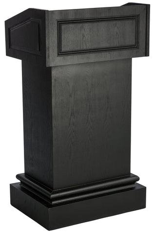 Valet Podium and Host Station, Restaurant/Cafe' Host Stand. Color: Black-Valet Podiums, Security, and Host Stations-Podiums Direct