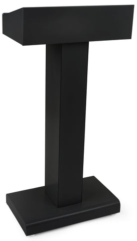 Metal Pedestal Lectern. Color Black or Silver.-Contemporary Lecterns and Podiums -Podiums Direct