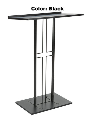 Metal Truss Lectern Cross Design