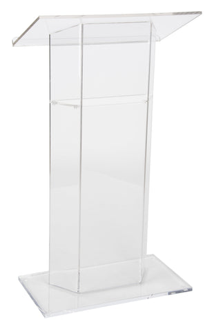 Acrylic Lectern SN3050-Acrylic Pulpits, Podiums and Lecterns-Podiums Direct