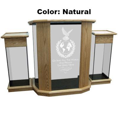 Glass Pulpit NC12/NC12G Prestige RHEMA-Glass Pulpits, Podiums and Lecterns and Communion Tables-Podiums Direct