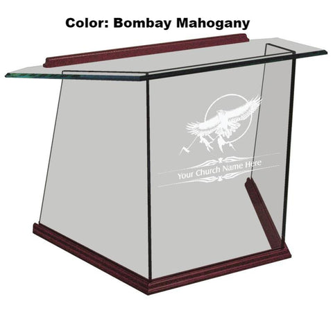 Tabletop Lectern NC2T/NC2TG Prestige Glass-Tabletop Lecterns-Podiums Direct