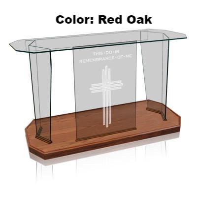Glass Communion Table NC41/NC41G Prestige Elegance-Glass Pulpits, Podiums and Lecterns and Communion Tables-Podiums Direct