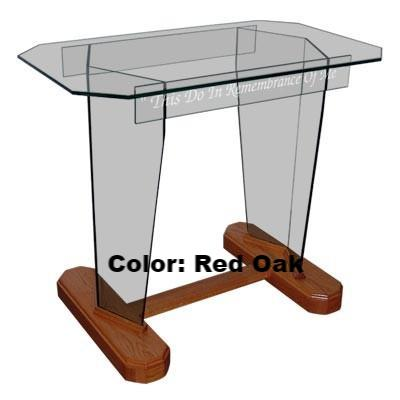 Glass Communion Table NC4/NC4G Prestige STANDARD-Glass Pulpits, Podiums and Lecterns and Communion Tables-Podiums Direct
