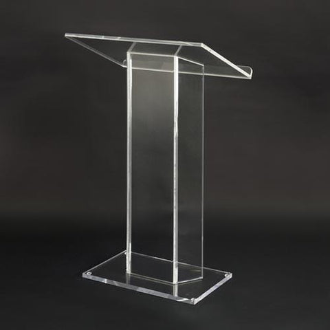 Acrylic Lectern Large Top SN3055-Acrylic Pulpits, Podiums and Lecterns-Podiums Direct