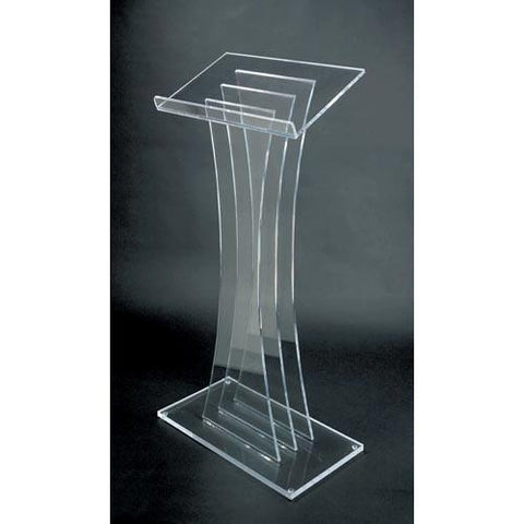 Acrylic Lectern Contemporary Style SN3065-Acrylic Pulpits, Podiums and Lecterns-Podiums Direct