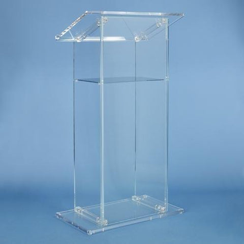 Acrylic Lectern Traditional Style SN3075-Acrylic Pulpits, Podiums and Lecterns-Podiums Direct
