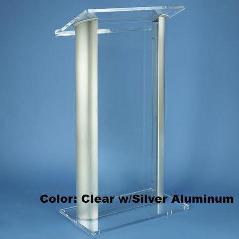 Contemporary Acrylic and Aluminum Podium 3080 Alumacrylic