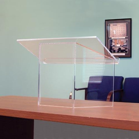 Tabletop Lectern Clear Acrylic SN3085 AmpliVox-Tabletop Lecterns-Podiums Direct