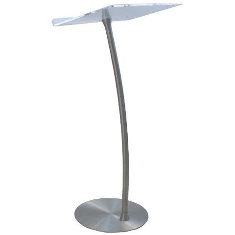 Metal Truss Arc Lectern with Acrylic Top SN3196-Metal Truss Podiums and Lecterns-Podiums Direct