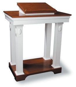 Church Wood Pulpit Colonial Open T0P-605-Church Solid Wood Pulpits, Podiums and Lecterns-Podiums Direct