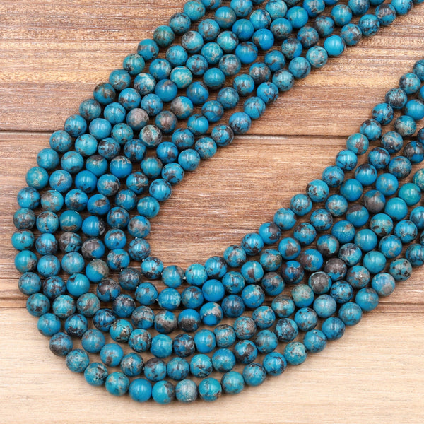 Natural Turquoise BEADS 6x4mm Faceted Rondelle Quality Blue Blue or Blue Green 6mm Gemstone making jewelry bead supply