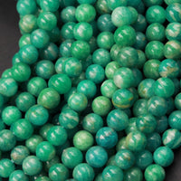 "Gorgeous Natural Russian Amazonite 4mm 5mm Round Beads High Quality Genuine Real Natural Blue Green Gemstone 16"" Strand"