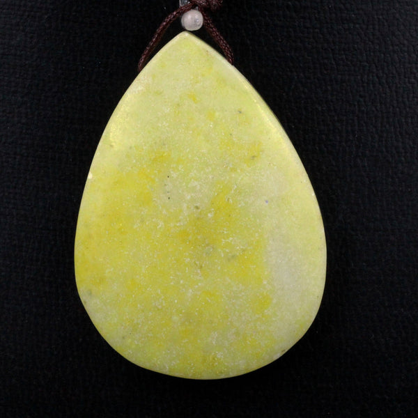 Natural Chartreuse Jade Teardrop Pear Pendant Top Side Drilled Natural Green Yellow Jade Focal Bead