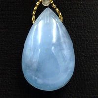 Natural Aquamarine Teardrop Pendant Side Drilled Real Genuine Blue Aquamarine Gemstone Focal Bead