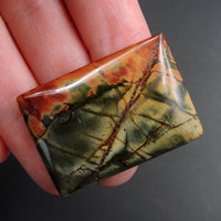 Red Creek Jasper Cherry Creek Jasper Multicolor Picasso Jasper Undrilled Rectangle Natural Stone Cabochon Cab C167