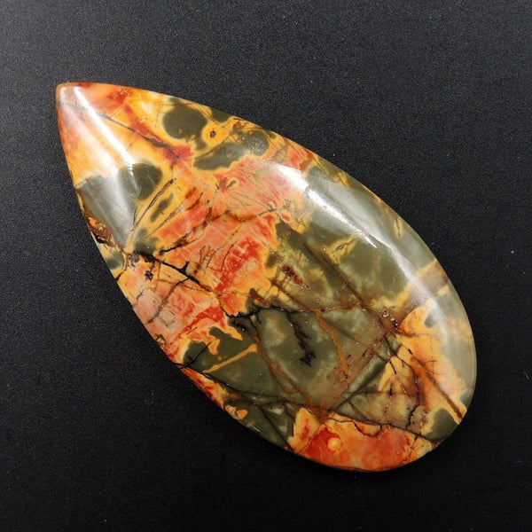 Red Creek Jasper Cherry Creek Jasper Multicolor Picasso Jasper Undrilled Teardrop Natural Stone Cabochon Cab C153