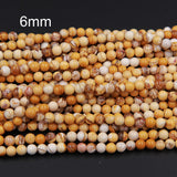 "Real Genuine Natural Brecciated Mookaite Jasper 4mm 6mm 8mm Round Beads 16"" Strand"