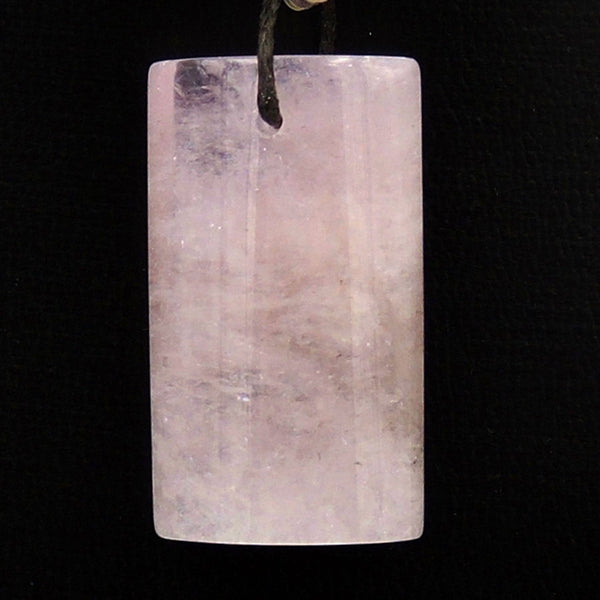 Large Natural Pink Morganite Pendant Pink Beryl Aquamarine Drilled Gemstone Rectangle Bead