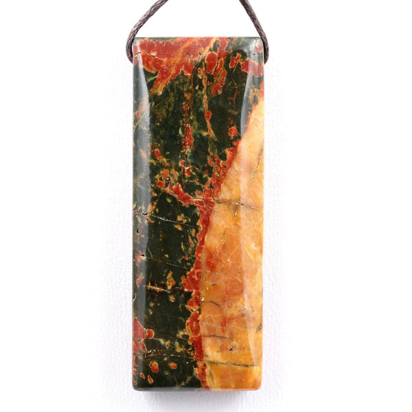 Natural Red Creek Jasper Pendant Top Side Drilled Long Rectangle Pendant Natural Multi Color Picasso Jasper Cherry Creek Jasper Bead