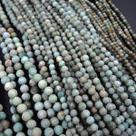 "Natural African Green Opal 4mm Round Matte Beads, 6mm Round Matte Beads, 8mm Round Matte Finish Beads 16"" Strand"