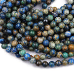 "AzuriteBeads 4mm 5mm 6mm 7mm 8mm 9mm 10mm Rare Energy Stone Genuine Real 100% Natural Blue Lightening Azurite Beads 16"" Strand"
