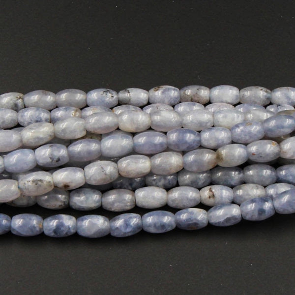 "Natural Iolite Beads 9mm Drum Beads Barrel Tube Rice Beads Full 16"" Strand"